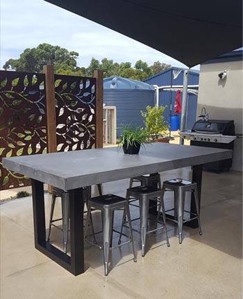 Custom built Concrete Furniture