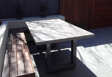 Outdoor concrete tables 2