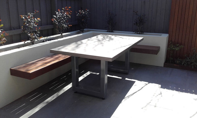 Outdoor concrete tables 3
