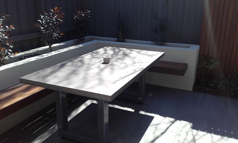 Outdoor concrete tables 4