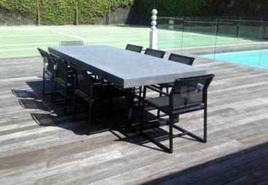 Outdoor concrete tables 12