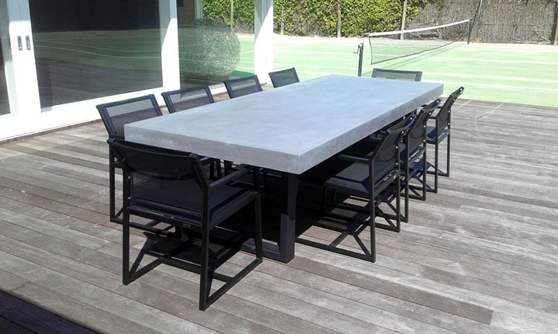 Outdoor concrete tables 13