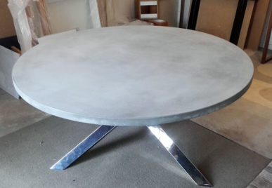 Outdoor concrete tables