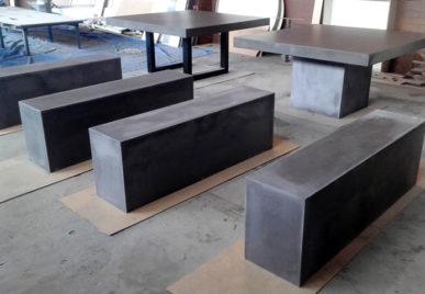 Outdoor concrete tables 14