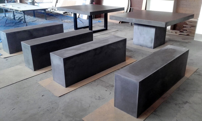 Outdoor concrete tables 14