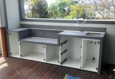 Outdoor concrete tables 16