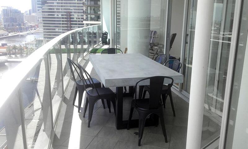 Outdoor concrete tables 22
