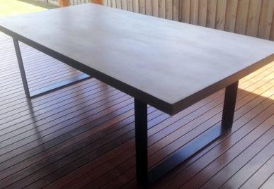 Outdoor concrete tables
