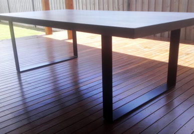 Outdoor concrete tables 24