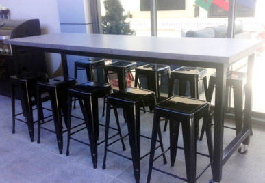 Outdoor concrete tables 25