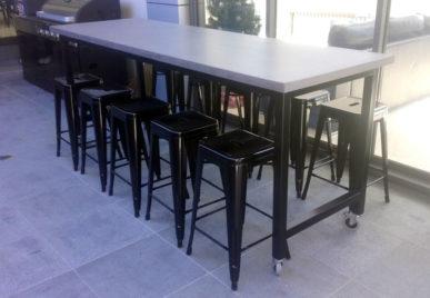 Outdoor concrete tables 26