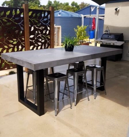 Outdoor concrete tables 30