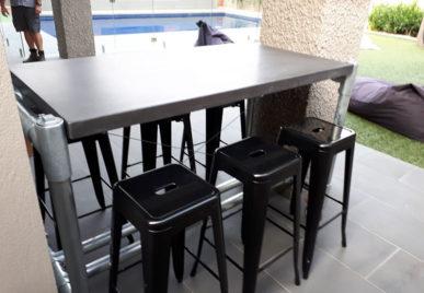 Outdoor concrete tables 34