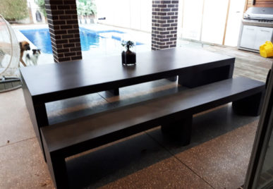 Outdoor concrete tables 38
