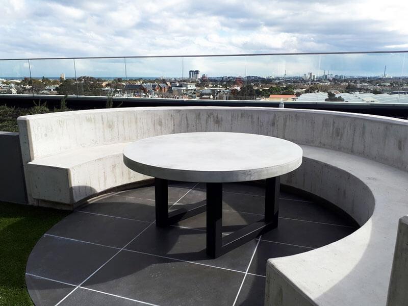 Outdoor concrete tables 42
