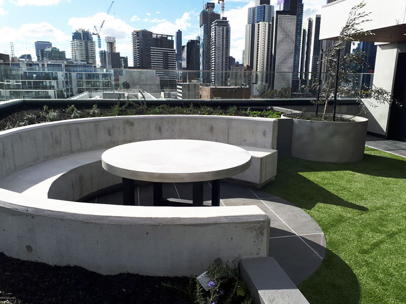 Outdoor concrete tables 42
