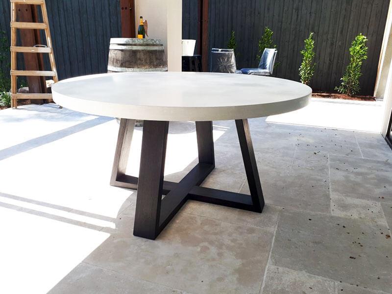 Outdoor concrete tables 44