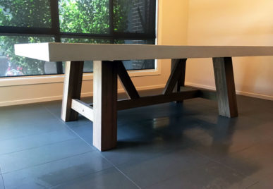 Outdoor concrete tables 48