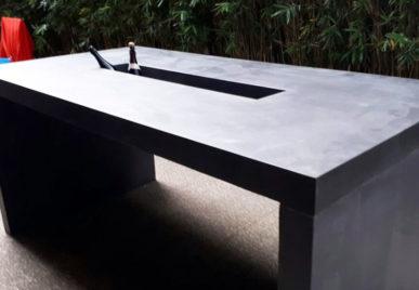 Outdoor concrete tables 57