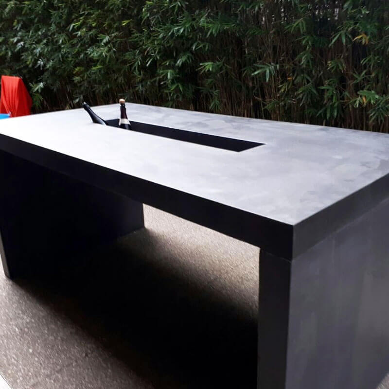 Outdoor concrete tables 57
