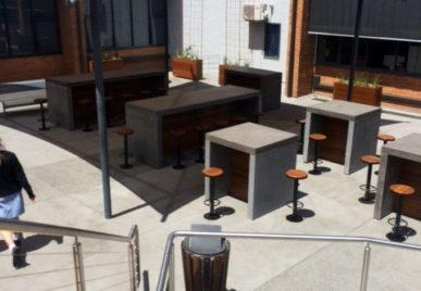 Outdoor concrete tables 54
