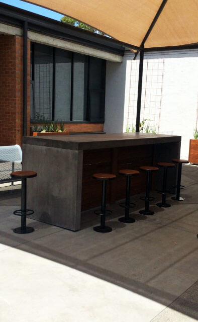 Outdoor concrete tables 55