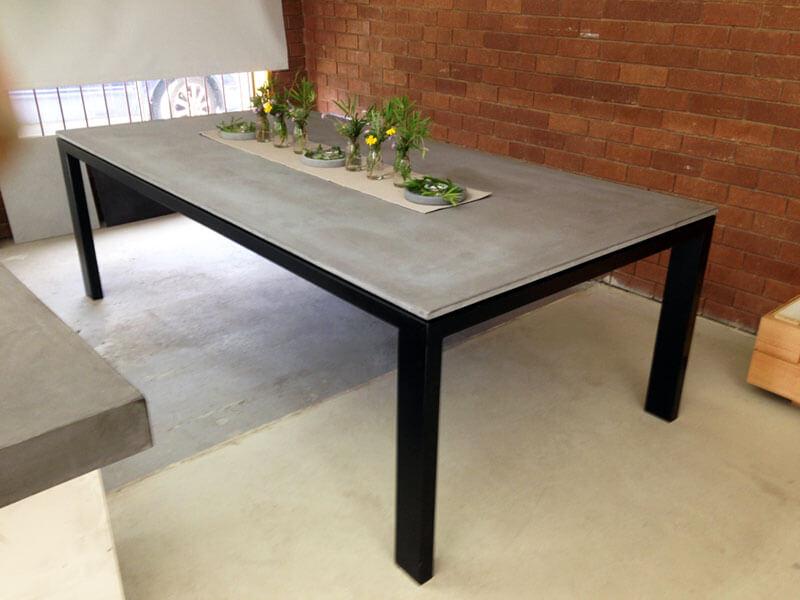 Outdoor concrete tables 59