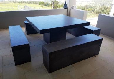 Outdoor concrete tables 60