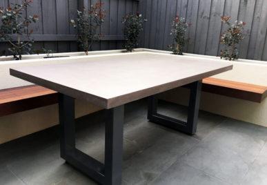 Outdoor concrete tables 61