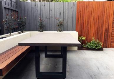 Outdoor concrete tables 64