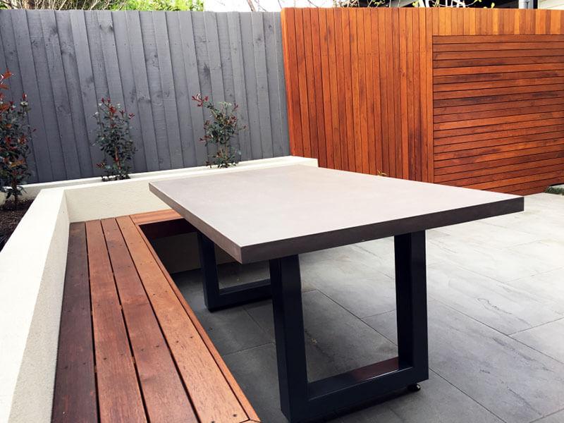 Outdoor concrete tables 62