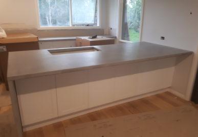 Concrete benchtops countertops