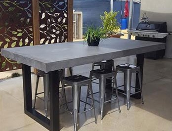 Custom Built Concrete Furniture